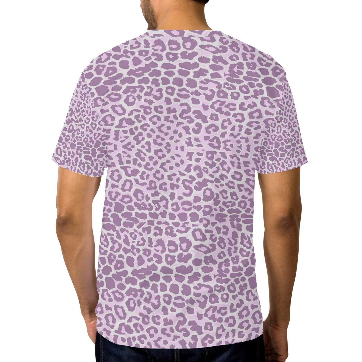 Horatiood Huberyyd Rurple Leopard Print Mens T Shirts Graphic Funny Body Print Short T-Shirt Unisex Pullover Blouse