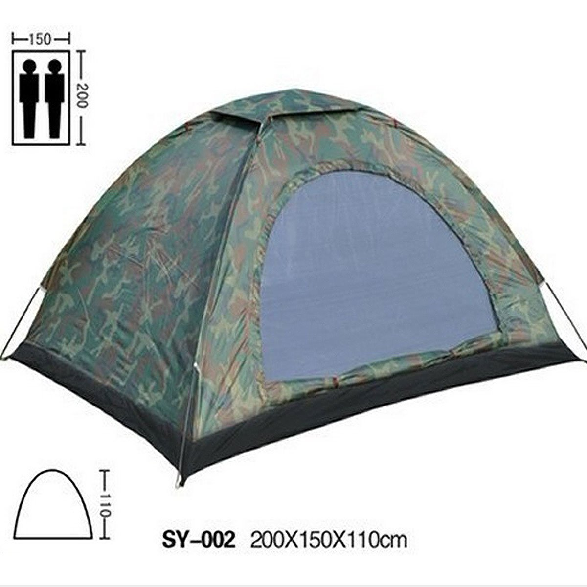 Amazon.com  C&ing tent 2 person 3 season camouflage dome tent easy setup outdoor tent for c&ing hiking with carry bag  Sports u0026 Outdoors  sc 1 st  Amazon.com & Amazon.com : Camping tent 2 person 3 season camouflage dome tent ...