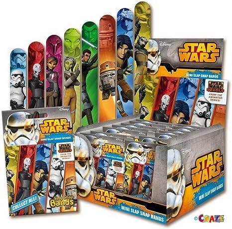 Star Wars Rebels Pulseras Mini Slap-Snap-Bands: Amazon.es: Juguetes y juegos