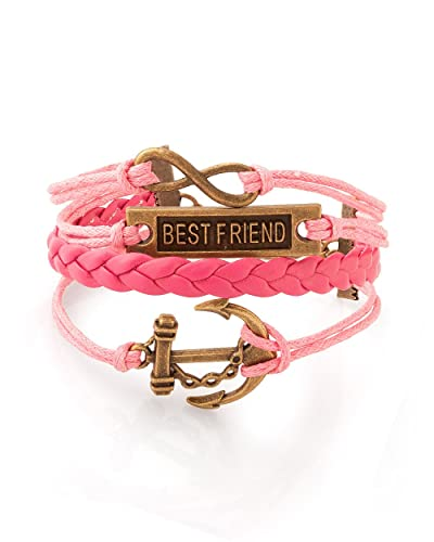 Buy Voylla Charming Friendship Band in Leather Bracelet