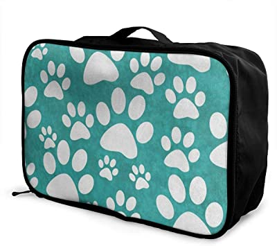 Portable Luggage Duffel Bag Cute Pug Travel Bags Carry-on In Trolley Handle