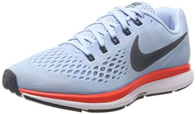 Nike Womens Air Zoom Pegasus 34 Athletic Running Shoes Ice Blue/Blue Fox (7.5