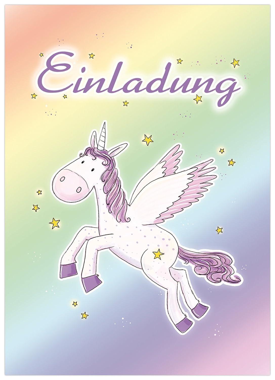Inviti 10 Biglietti D Invito Unicorno Compleanno Per Bambini Per