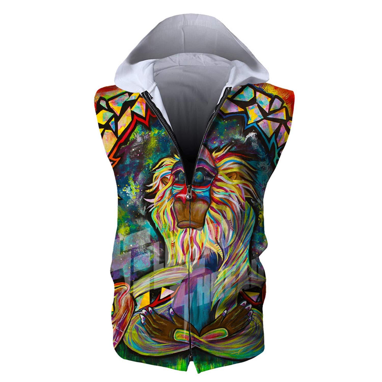MRxcff Hoodies Men Women Devil Bride Skull Head 3D Print Sweatshirts Zipper Unisex Men Hoodies Sleeveless Tops 3XL