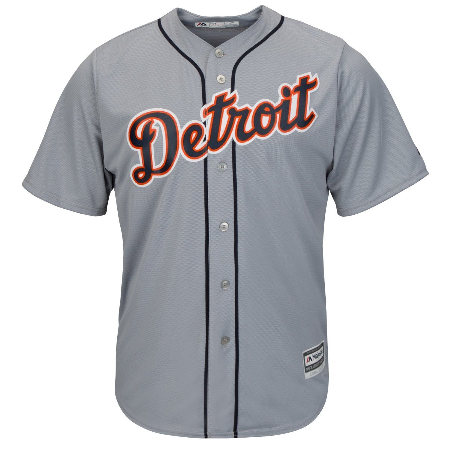 Detroit Tigers Youth Cool BaseチームRoad Jerseyグレー B078SCXR5XYouth Medium 10/12