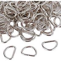 100pcs D-Rings Anillas en Forma D, 19mm