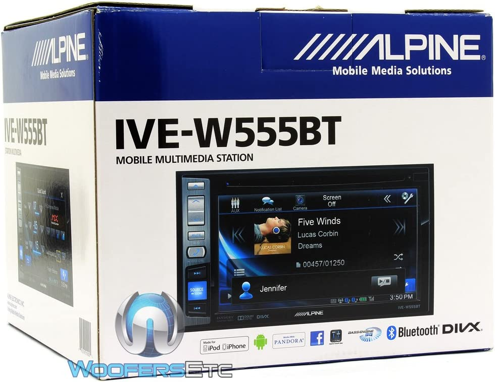 ALPINE IVE-W585BT 110mm Replacement Double Din Car Stereo Radio Fascia Cage Kit