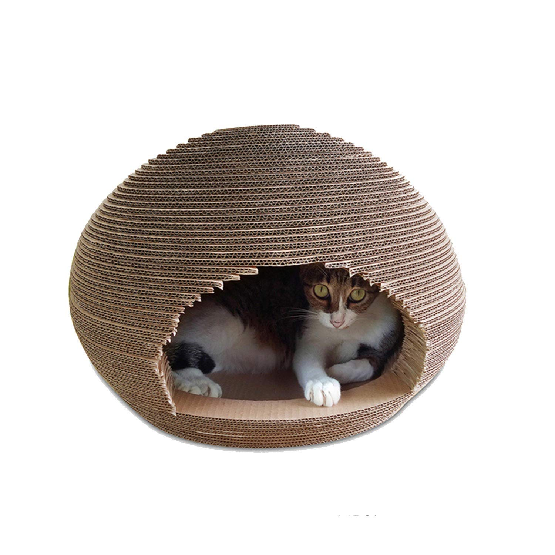 Cat House Wave Corrugated Paper Cat Furniture Ball Cat Litter Cat Scratch Board Toy Rest Sleeping Pet Supplies 45X45X33.5cm