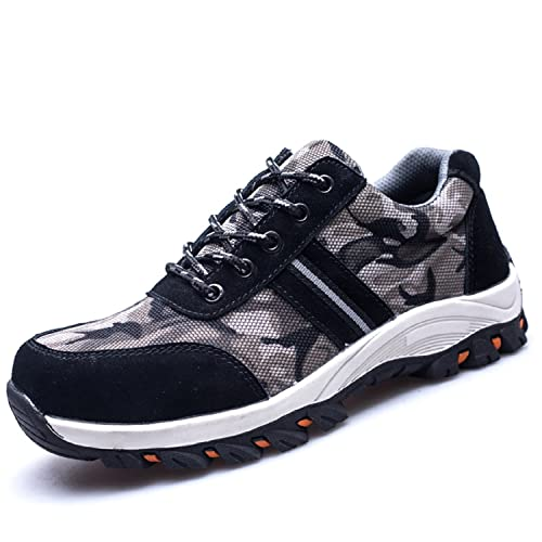 LILY999 Zapatillas de Seguridad con Puntera de Acero Zapatos de Trabajo Ligeros Antideslizante Senderismo Unisex-