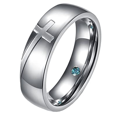 Amazon Com Um Jewelry Couple Rings Personalized Stainless Steel