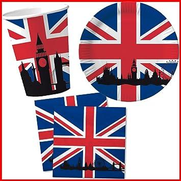 DH-Konzept Great Britain \u0026 Union Jack Paper Plates Napkins and Cups Party Set 40  sc 1 st  Amazon UK & DH-Konzept Great Britain \u0026 Union Jack Paper Plates Napkins and Cups ...