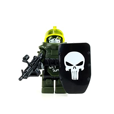 Battle Brick Custom Juggernaut Army Assault Soldier (SKU81) Custom Minifigure: Toys & Games
