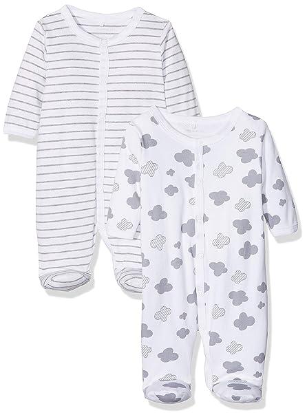 NAME IT Nbnnightsuit 2p W/f Mel 1 Noos, Pijama para Bebés, Grey