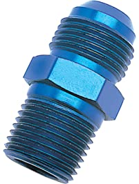 """Edelbrock/Russell 660420 Blue Anodized Aluminum -4AN Flare to 1/8"""" NPT Pipe Straight Adapter"""