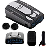 Radar Detector E8, Car Speed Laser Radar Detector with LED Display Voice Alert and Alarm