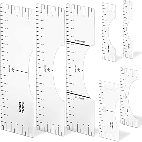 Graphics Tshirt Alignment Tool Transparent 16 and 10 2 Pcs Tshirt Ruler Guide Tshirt Ruler Guide for Vinyl,Tshirt Ruler for Vinyl Alignment