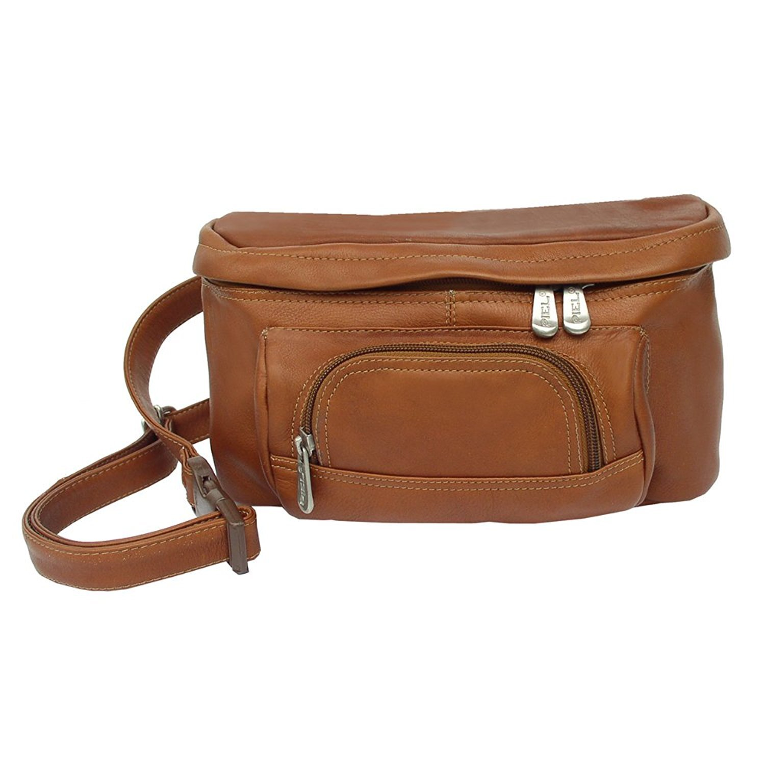 Piel Leather Carry-All Waist Bag Saddle One Size [並行輸入品] B077QRCNXQ