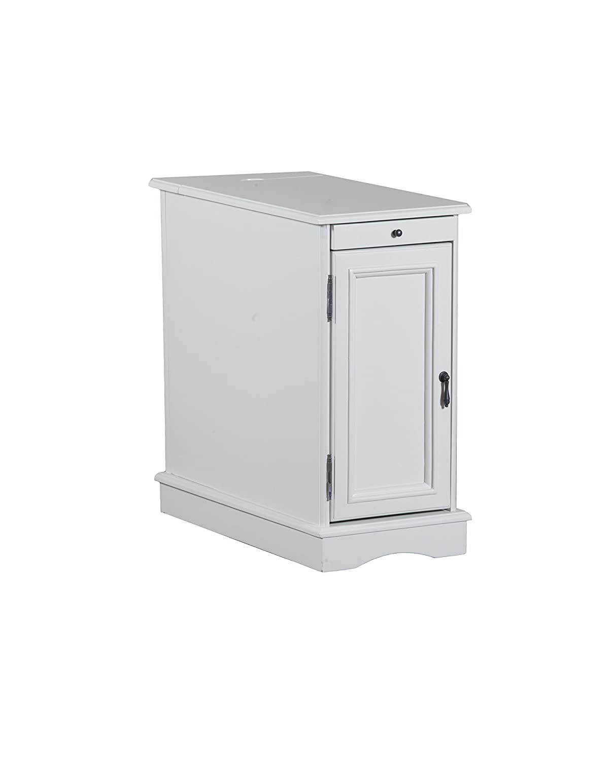 Powell Furniture 15A2017WA Butler Accent Table Small White