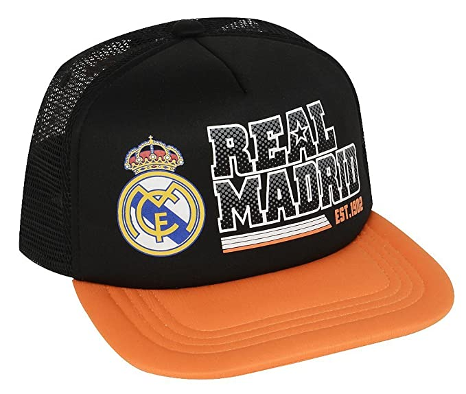 63794c990df7c Real Madrid Adjustable Cap Hat Trucker New Season (Orange Black) at ...