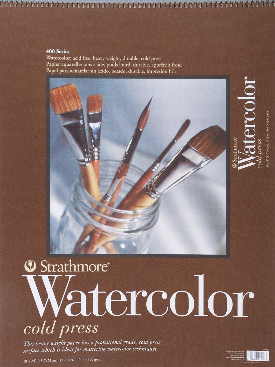 Strathmore 440-5 Strath W.Color 400 18X2412SHT 130LBS 18''x24'' 12 Sheets