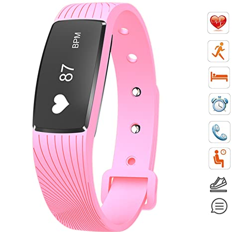 Amazon.com: Bluetooth Smart pulsera banda Heart Rate Monitor ...