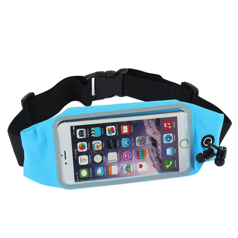 2-TECH Sportgürteltasche mit Durchsichtigem Bedienfeld Ideal für Jogging Laufen Passend für 5,5 Smartphones iPhone 6 Plus und Kabeldurchführung