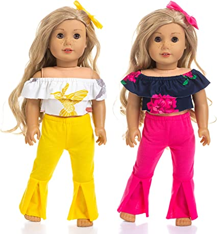 Doll Pajamas Set Creative Doll Outfit Set Doll Accessories 18 Inch Dolls