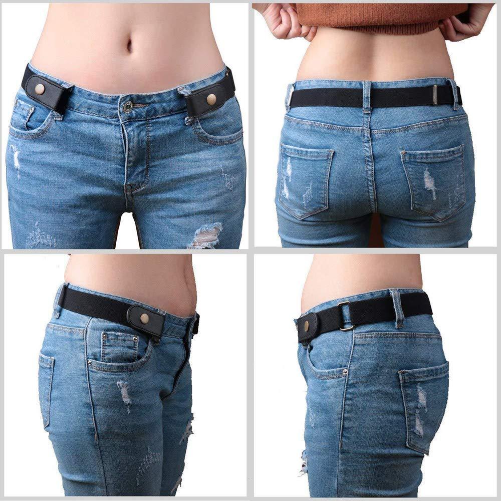Buckle-Free Elastic Belt Women Men Comfortable Invisible Waist Belt No Bulge No Hassle Slim Fitting for Jeans Short Pants Skirt Dresses (Multicolor) by Codiak-Costume (Image #9)