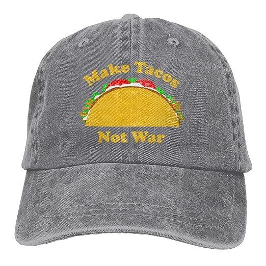 3a5ff2aff7 VHGJKGIN Make Tacos Not War Male and Female Adult Cowboys and Low  Adjustable Baseball Caps.A Cowboy Hat,