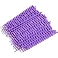 SUPVOX 100pcs Disposable Eyelash Extension Micro Brush Applicators Mascara (Purple)