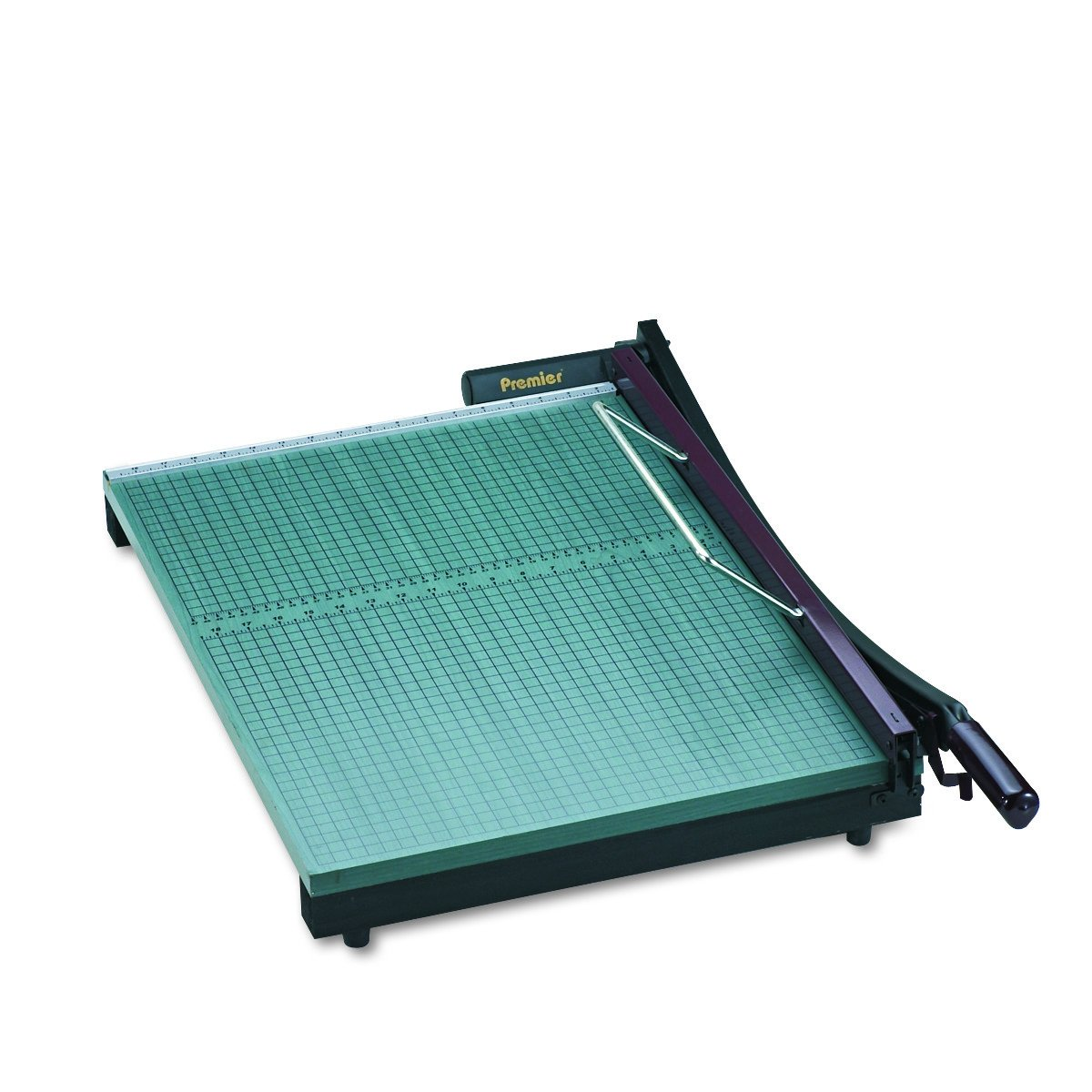 Martin Yale 724 Premier StackCut Heavy-Duty Paper Trimmer, Table Size 18-1/2'' x 24'', Permanent 1/2'' Grid and Dual English and Metric Rulers, Ergonomic Soft-grip Handle by Martin Yale