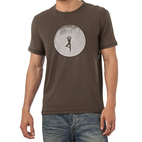 Texlab Full Moon Yoga Camiseta, Hombre, marrón, XX-Large ...