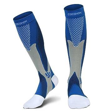 Calcetines de compresión para hombres y mujeres, Fit para deportes, trabajo, vuelo,