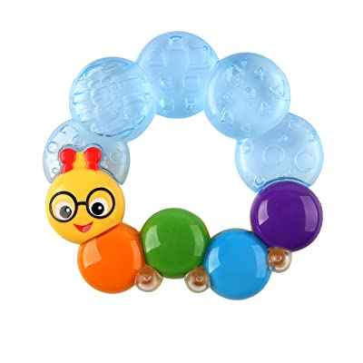 Baby Einstein Teether-pillar Rattle and Chill Teething Toy, Ages 3 months + : Baby