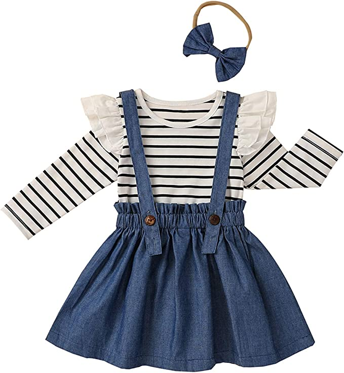 Newborn Baby Girls Clothes Ruffle Floral Romper Tops Jumpsuit Mini Dress Outfits