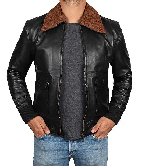 Brown Bomber Jackets For Men Black Mens Leather Motorcycle Jacket