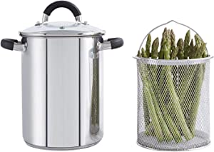 Tower Asparagus Pot and Pasta Cooker 16 cm with Removable Basket S/Steel,