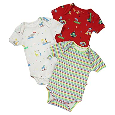 7ac1c11d2 Piccalilly Twins Baby Bodysuits Organic Cotton Unisex Rainbow Pack ...
