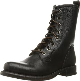 Amazon.com | FRYE Women's Erin Lug Combat Boot | Ankle & Bootie