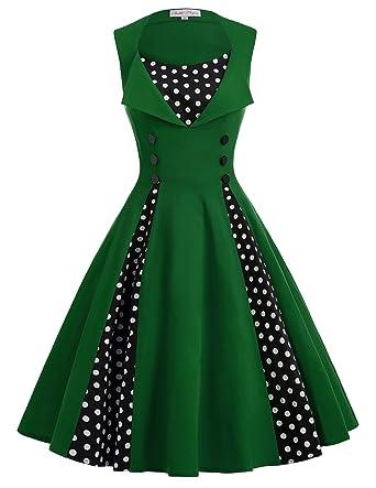 festliche kleider damen knielang kleid retro kleid moderne kleid L ...