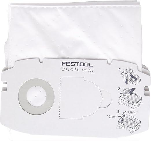 Festool 4433142 Sac filtre selfcleansc fis-ct midi//5 Multicolore
