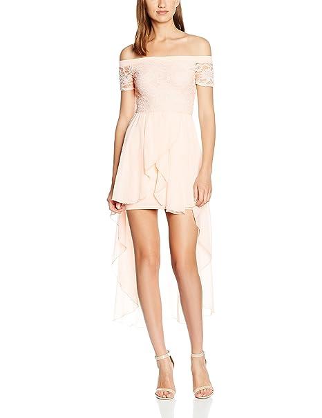 Quiz Glitter Lace Bardot Chiffon Hem 591bc1de5c6