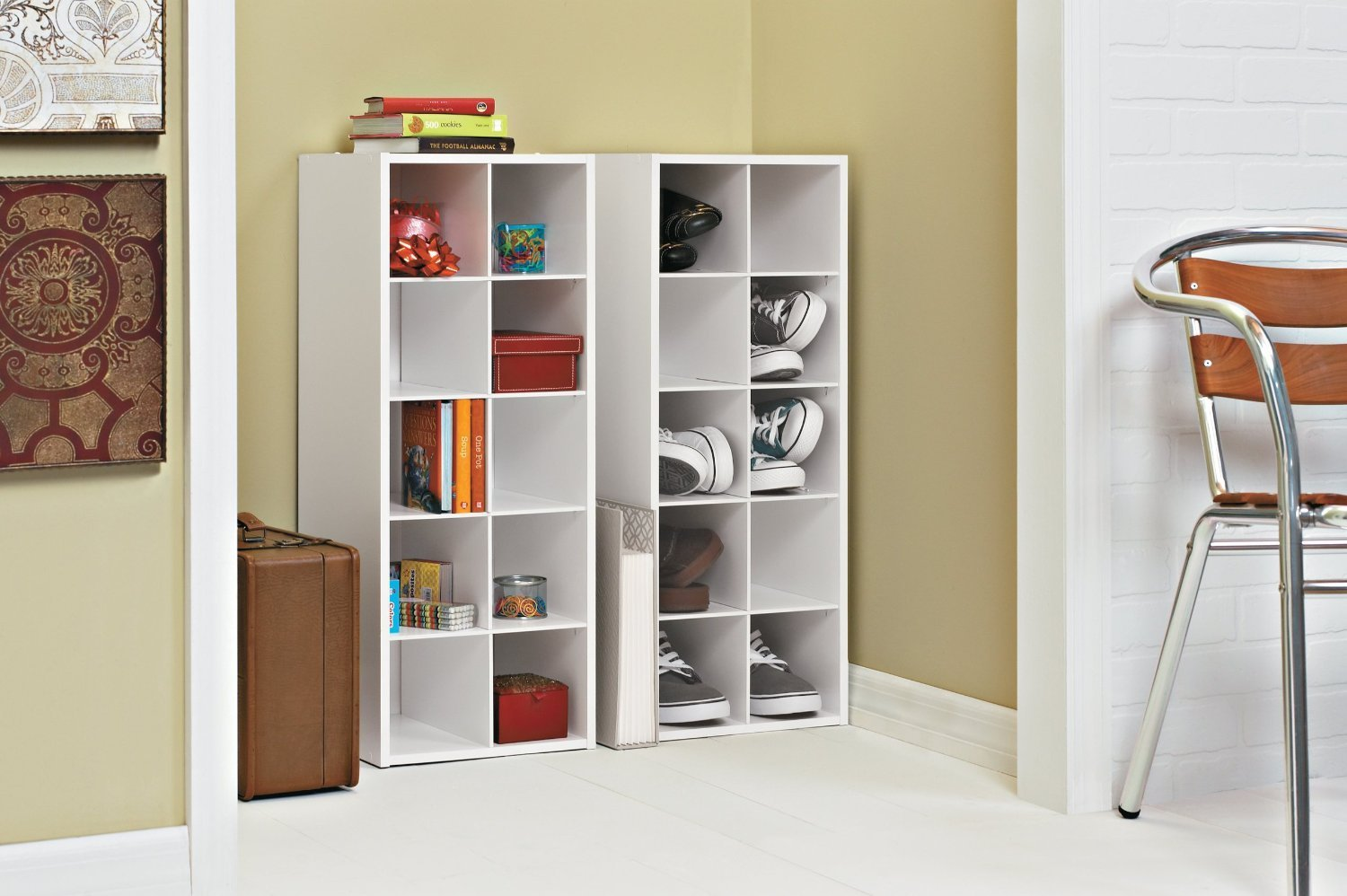 ClosetMaid 1545 Stackable 10-Cube Organizer, White by ClosetMaid (Image #2)