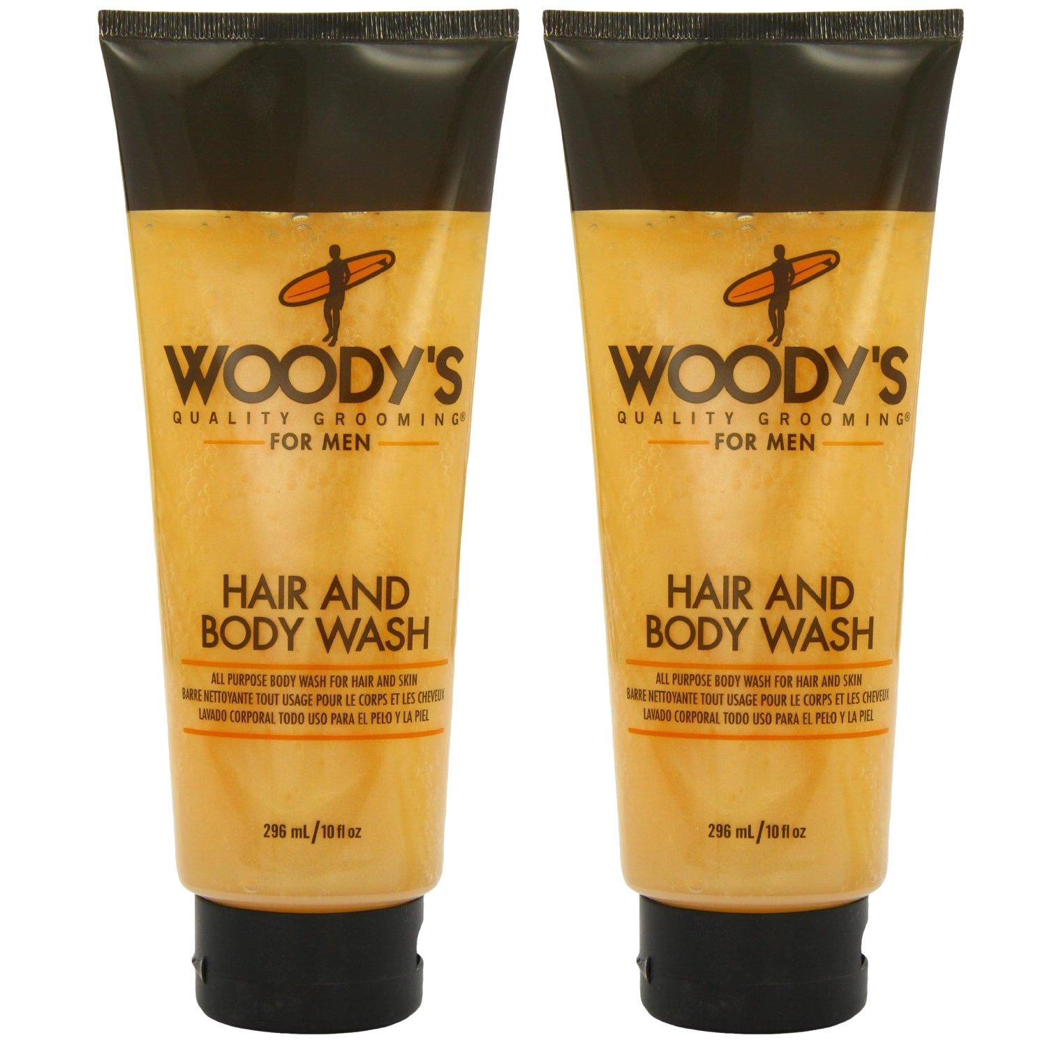 Woody's Hair & Body Wash 10 Ounce (Pack of 2)