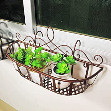 Fzn Eisen Balkongelander Hangen Blumentopf Rack Innen Wohnzimmer
