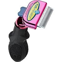 FURminator DeShedding Brush Comb Tool For Short Hair Small Cats (Metallic Pink)