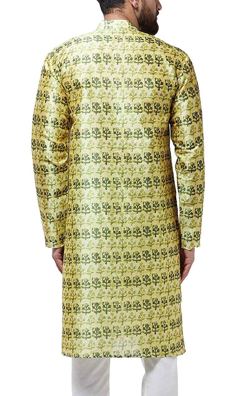 Festival-Men-Dupion-Silk-Kurta-Pajama-Ethnic-Party-Wear-Bollywood-Dress-Pyjama thumbnail 20