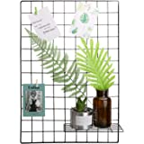 "Kufox Multifunction Metal Mesh Grid Panel,Wall Decor/Photo Wall/Wall Art Display & Organizer,Pack of 2 Pcs,Size:25.6"" x 17.7"",Black"