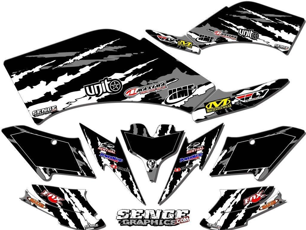 センジグラフィックス2005 Honda TRX 450r、Shredderブラックグラフィックキット   B01N4UFGNB