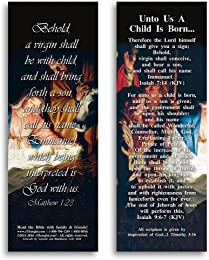 """Unto Us a Child Is Born - Pack of 25 Cards - 2""""x6"""""""